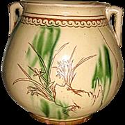 Chinese Glazed Jar with Monkey King