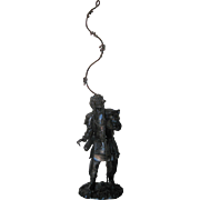 Japanese metal sculpture of a Warrior