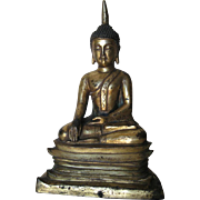 Chinese Antique Sino-Tibetan Gilt-Bronze Buddha