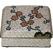 Chinese Small Cloisonné Box
