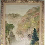 Japanese Waterfall Landscape Painting