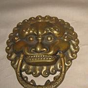 Chinese Bronze Lion Mask Door Knocker