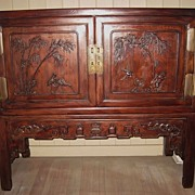 19th Century Chinese Hongmu Wood  Cabinet