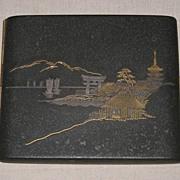 Superb Early 20th C. Japanese Damascene Cigarette Case