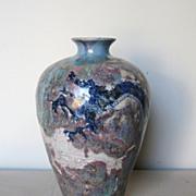 Chinese Ceramic Flambé Dragon Vase