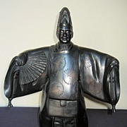 Early 20th Century Japanese Bronze Noh Dancer