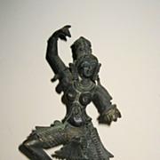 19th C. Indian Bronze Sculpture of Female Dancer