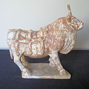 Chinese Northern Qi Dynasty Pottery Bull