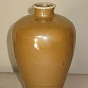 19th C. Café Au Lait Monochrome Glazed Meiping Vase