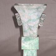 Exquisite Old Jadeite Archaic-Style Vase