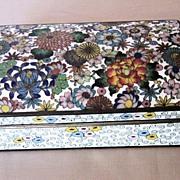 Beautiful Polychrome Japanese Cloisonné Box