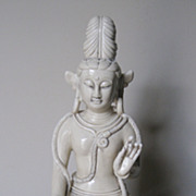 Chinese Blanc de Chine  Guanyin Seated on a Bull