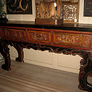 Chinese Massive Carved Wood Altar Table
