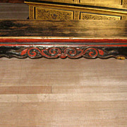 Chinese Long Narrow Fruitwood Bench