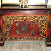 Chinese Elaborately Carved Altar Chest