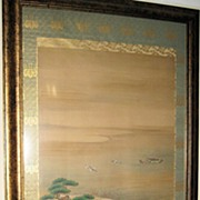 Japanese 19th century Painted Samurai Warriors Scroll