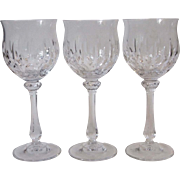 Mikasa Normandy Three Wine Glasses 7 1/8 Inch Crystal Stemware