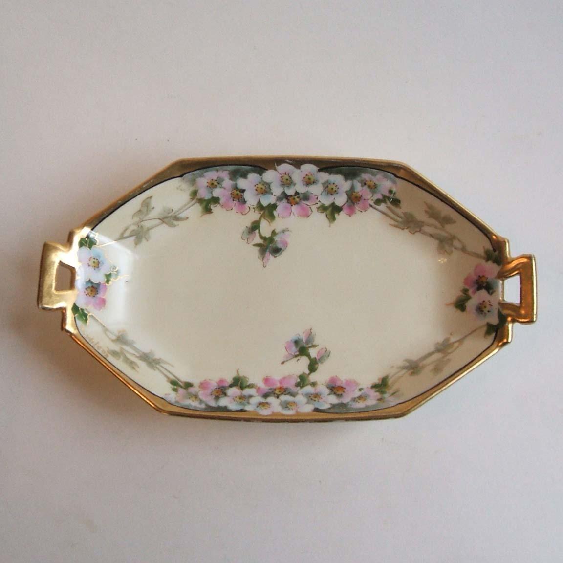 t v limoges france hand painted porcelain dish walter