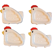 Set 4 Vintage Chicken Tea Bag Holder Strainers 1983 Ron Gordon Designs