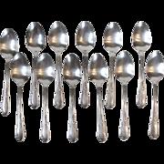 Rogers Oneida 1936 Meadowbrook Heather 12 Teaspoons Silverplate Flatware