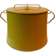 SOLD Vintage Dansk Kobenstyle Yellow 7 Qt Stock Pot Enamel on Metal France