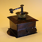 Rare Miniature Tin Coffee Grinder - By Rock & Graner