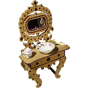 Rare Antique Dressing Table for Fashion Dolls - By Badeuille