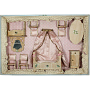 Antique French Bedroom Furniture Set in Original Box - By Victor François Bolant