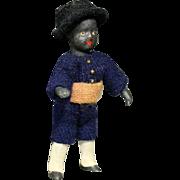 Rare Black All-Bisque Lilliputian Doll