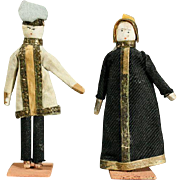 Early Wooden Theater Dolls - The King and the Queen