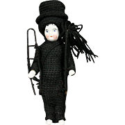 Porcelain Doll as Chimney Sweeper with Top Hat