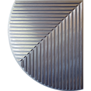 Brushed Aluminum Wall Sculpture by Jean Jacques Besner, 1985