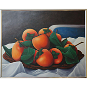 """""""Persimmons"""" Acrylic Painting on Canvas by Betty Johnson"""