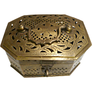 Vintage Brass Cricket Box, early 20th Century