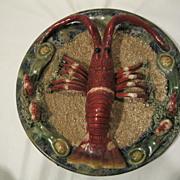 Antique Majolica Lobster Plate