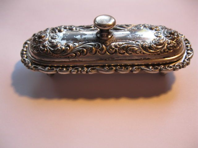 Victorian  Simpson H. M. & Co Quadruple Silver Plate Toothpick  or Match Holder