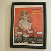 Vintage 1924 Framed Mavis Vivaudou Original Ladies Home Journal Ad--Artist Henry Clive