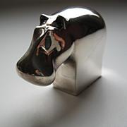 Dansk Silverplate Hippopotamus by Gunner Cyren Made in Japan