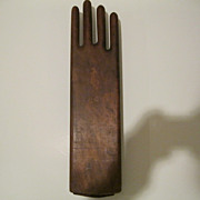 Early 1900's Wood Hand Glove Holder