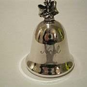 Reed & Barton Silverplate Noel Music Bell 7th Edition