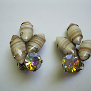 Vintage Signed Weiss Clip Earrings