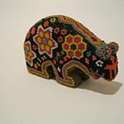 Vintage Mexican Huichol Bear Figurine