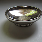 SALE PENDING Vintage Mercury Glass Silver Bowl