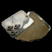 Antique Victorian Chatelaine Silver Plate Fluer-de-lis Dance Card