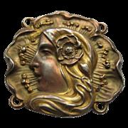 Art Nouveau Unger Bros Sterling Silver Buckle Pendant