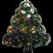 Watermelon Rivoli Margarita Glass Christmas Tree Pin Broach