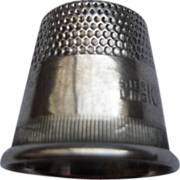 Vintage Sterling Silver Thimble Sz 10