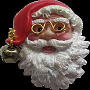 Vintage Plastic Santa Claus Pin Broach