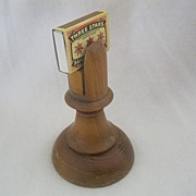 Vintage Wood Matchbox Holder and Matchbox