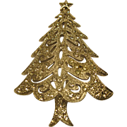 Rare Signed Hedy Christmas Tree Pin Broach